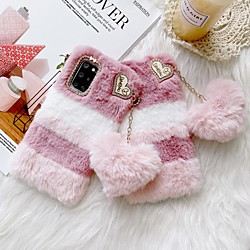 Lovely Soft Warm Fur Plush Case for Samsung Galaxy S21 Plus S21 Ultra Fuzzy Fluffy Back Cover Coque For Samsung Galaxy Note 20 Ultra S20 S10 Plus A51 A71 Note 8 9 10 Plus miniinthebox