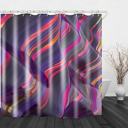 Mini In The Box rimpel kleur stroom print waterdichte stof douchegordijn voor badkamer home decor bedekt bad gordijnen voering omvat met haken miniinthebox