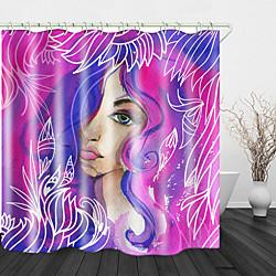 Mini In The Box aquarel schoonheid print waterdichte stof douchegordijn voor badkamer interieur bedekt bad gordijnen voering omvat met haken miniinthebox