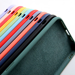 'Liquid Silicone Soft Slim Protective Case For Iphone 12 Pro Max 11 Pro Max X Xr Xs Max / Samsung Galaxy S21 Ultra S21 Plus S20 Plus A51 A71 Note 20 Case (with Soft Microfiber Lining) Miniinthebox
