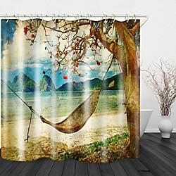 Mini In The Box retro landschap print waterdichte stof douchegordijn voor badkamer interieur bedekt bad gordijnen voering omvat met haken miniinthebox