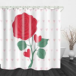 Mini In The Box mooie bloemen print waterdichte stof douchegordijn voor badkamer interieur bedekt bad gordijnen voering omvat met haken miniinthebox