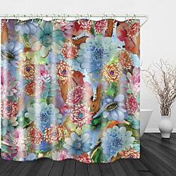 Mini In The Box Aquarel bloemen print waterdichte stof douchegordijn voor badkamer home decor bedekt bad gordijnen voering omvat met haken miniinthebox