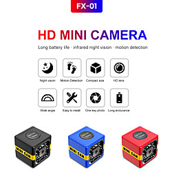 'Fx01 Night Vision Small Secret Micro Video Mini Camera Cam Microcamera Minicamera With Motion Sensor Full Hd 1080p Security Dvr Miniinthebox