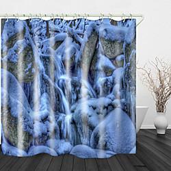 Mini In The Box mooie sneeuwscène print waterdichte stof douchegordijn voor badkamer interieur bedekt badkuip gordijnen voering omvat met haken miniinthebox