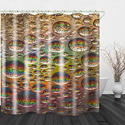 Mini In The Box kleurrijke waterdruppels print waterdichte stof douchegordijn voor badkamer home decor bedekt badgordijnen voering omvat met haken miniinthebox
