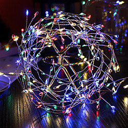 'Led String Lights Firecracker Copper Wire Flexible 2m 5m Set Fairy Garland Holiday Light For Wedding Holiday Party Room Decoration Warm White Colorful Lamp Aa Battery Operated Miniinthebox