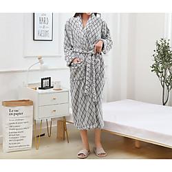 Superior Quality Bath Robe, Solid Color Coral Velve 1 pcs miniinthebox