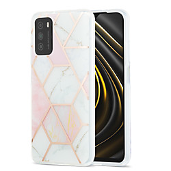 Phone Case For Xiaomi Back Cover Xiaomi Poco X3 NFC Mi 10T 5G Redmi Note 9 Pro Redmi Note 9 Pro Max Redmi 9A Mi 10T Lite 5G Shockproof Dustproof Plating Geometric Pattern Marble TPU miniinthebox