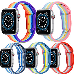 1 PCS Watch Band for Apple iWatch Printed Bracelet Silicone Wrist Strap for Apple Watch Series SE / 6/5/4/3/2/1 miniinthebox