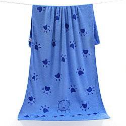 Superior Quality Bath Towel, Cartoon / Solid Color Superfine fiber 1 pcs miniinthebox