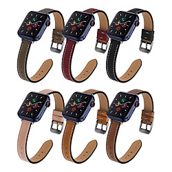 Smart Watch Band for Apple iWatch 1 pcs Business Band Genuine Leather Replacement  Wrist Strap for Apple Watch Series SE / 6/5/4/3/2/1 miniinthebox