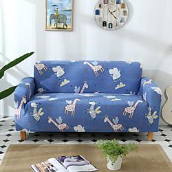 Maison et jardin dessin animé girafe trianglel impression housses toutes puissantes étanches à la poussière housse de canapé extensible housse de canapé en tissu super doux avec une housse de boster gratuite (chaise / miniinthebox