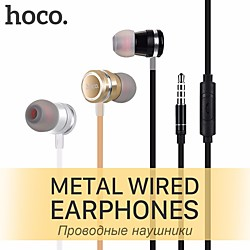 Consumer Electronics HOCO M16 Wired In-ear Earphone 3.5mm Audio Jack PS4 PS5 XBOX Ergonomic Design Stereo with Microphone for Apple Samsung Huawei Xiaomi MI  Mobile Phone miniinthebox