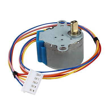 how to connect a stepper motor to the adafrout sheild