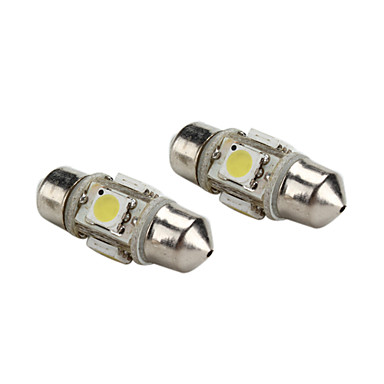 31mm 1w 4x5050 smd wit licht festoon led lamp voor het for Led lampen 12v