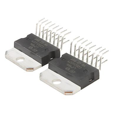 L298n stepper motor driver chip module black silver 2 for L298n stepper motor driver
