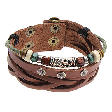 Z x beads crystal rivet leather bracelet jewelry for Rivets for leather jewelry