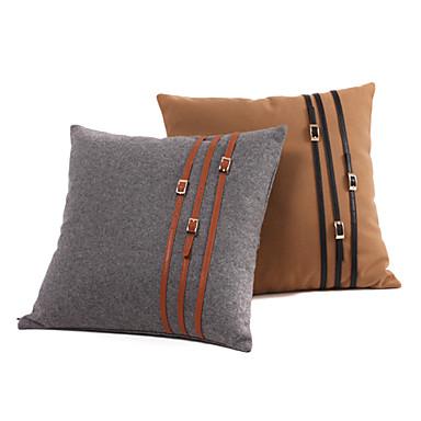 eur jeu de 2 ceinture en cuir tissu coussin d coratif en laine livraison gratuite. Black Bedroom Furniture Sets. Home Design Ideas