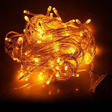 10m 100 led jaune lumi re led d coration de no l guirlande lumineuse 220 de 859982 2017. Black Bedroom Furniture Sets. Home Design Ideas