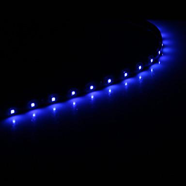 0.3M 15x1210SMD Cool WhiteBlue Light LED Waterproof Flexible String Light (DC 12V) 874013 2017 ...