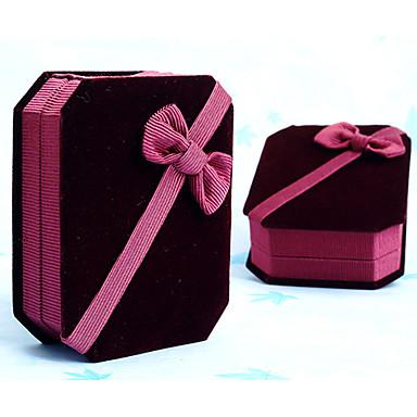 Red velvet jewelry necklace bracelet gift box for Red velvet jewelry gift boxes