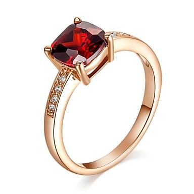 rouge bague de mariage simulé diamant rubis de dame #01133399