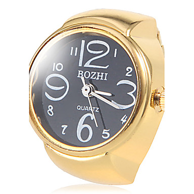 women s black gold alloy quartz ring cool