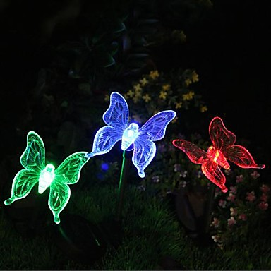 Solar color changing butterfly garden stake light 1399283 2017 for Solar garden stakes color changing