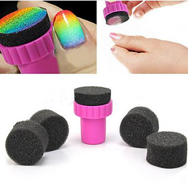 Outils 1pcs manucure sponge nail art ster avec 5pcs éponge ongles
