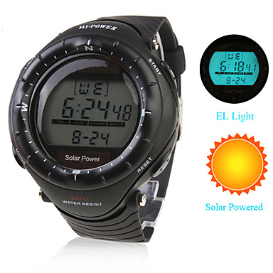 Men s watch sports solar powered multi function luminous back light cool watch unique watch for Solar power watches