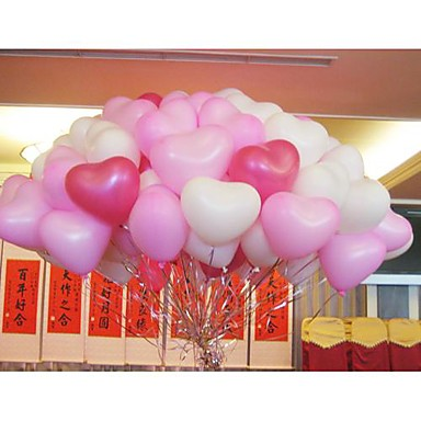 Ballons 100pcs coeur de forme f tes de mariage de f te d 39 anniversaire d c - Decoration mariage ballon ...