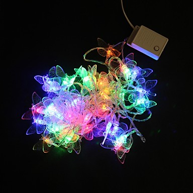Butterfly Party String Lights : 5M 40-LED Multicolor Butterfly Light String Wedding Party Christmas Lamp (AC220V) 1605572 2017 ...