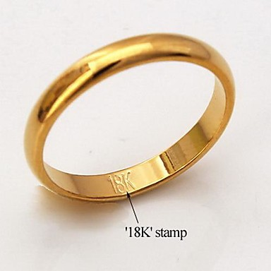 u7 174 high quality 18k chunky gold filled rings for