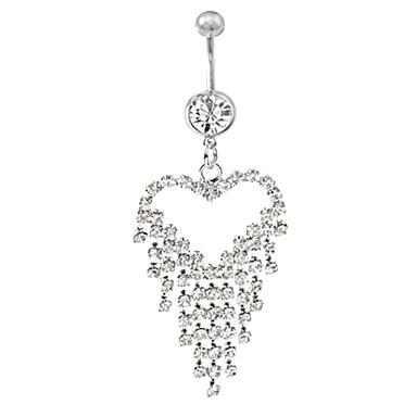 Lureme 316l anneau gland amour pendentif en cristal du nombril en titane acier chirurgical - Anneau de gland ...