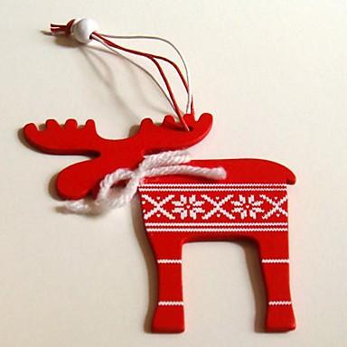 Navidad decorativas colgantes forma ciervo 1 pc materiels - Decoraciones de navidad ...