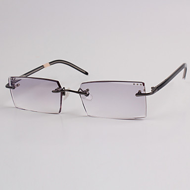 [Free Lenses] Acetate Rectangle Rimless Crystal ...