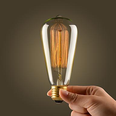 filamento della lampadina ad incandescenza retrò vintage ...
