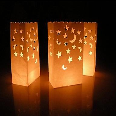Lune en forme de lampe de papier d coup papier luminaire toiles ensemble de 4 de 2237294 - Lampe en papier ...