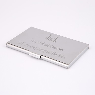 Personalized Stainless steel Engraved Business Card Holder