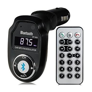 bt 303 bluetooth v2 1 multifonctionnel lecteur kit mains libres de voiture mp3 transmetteur fm. Black Bedroom Furniture Sets. Home Design Ideas