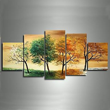 hand painted modern landscape 4 season tree pictures oil. Black Bedroom Furniture Sets. Home Design Ideas