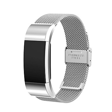 fitbit charge 2 strap band replacement stainless steel bracelet strap wristband for fitbit. Black Bedroom Furniture Sets. Home Design Ideas