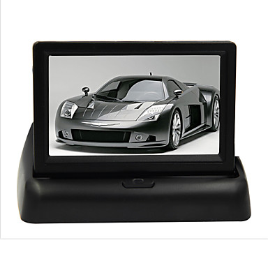 4 3 pli lcd cran de vue arri re moniteur de voiture dvd. Black Bedroom Furniture Sets. Home Design Ideas