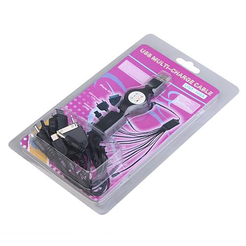 10-в-1 USB зарядного устройства / адаптеры для мобильных телефонов (100 ~ 240 В)  126.000