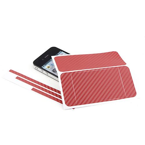 DIY защитные наклейки для iphone 4 - красный  85.000