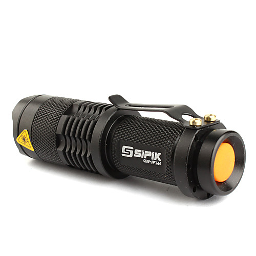 Фонарик светодиодный, FX SK68 1-режим CREE XR-E Q5  (200LM, 1xAA/1x14500, черный)
