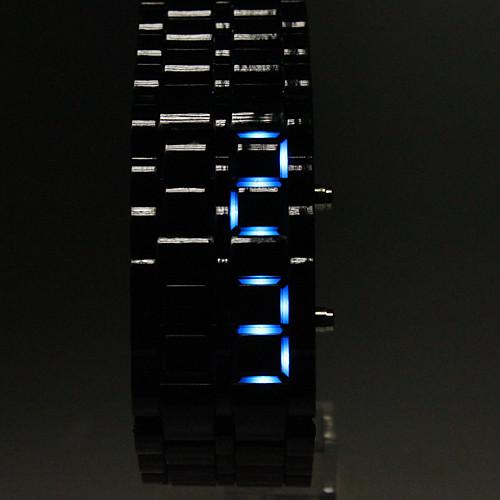 Муж. Наручные часы Цифровой Календарь LED Plastic Группа Черный