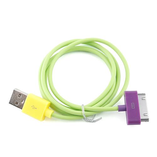 красочные универсальная линия данных для iphone и Ipad (зеленый)  85.000