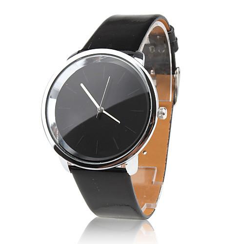 Женские Модные часы Кварцевый PU Группа Черный бренд-